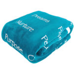 Plant-Based-Pros-Healing-Blanket-with-Inspirational-Message-of-Love-Hope-Happiness-and-Health-Teal