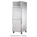 """True STG1DT-2HS 28"""" One Section Commercial Refrigerator Freezer - Left Hinge Solid Doors, Top Compressor, 115v"""