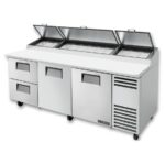 """True TPP-AT-93D-2-HC 93"""" Pizza Prep Table w/ Refrigerated Base, 115v"""