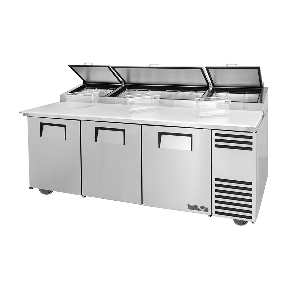 "True TPP-AT-93-HC 93"" Pizza Prep Table w/ Refrigerated Base, 115v"