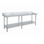 "Dukers DCSTW-3072B Stainless Steel Worktable 72"" X 30"" with Backsplash"