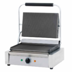 Cookline PG-1 Commercial Panini Press with Grooved Top and Bottom, 120V